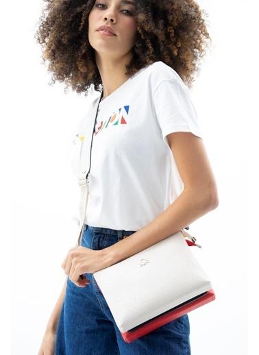 Benetton Messenger / Askılı Çanta Bej